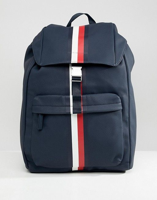 5097f3f40dd Tommy Hilfiger block stripe backpack in navy | j'aime avoir | Tommy ...