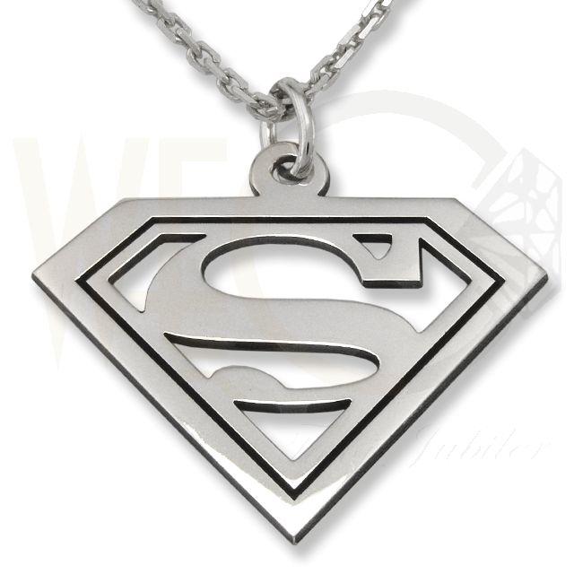 Wisiorek srebrny superman. /55,00 PLN/ Silver pendant superman.