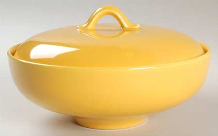Homer Laughlin Rhythm Yellow Round Covered Vegetable