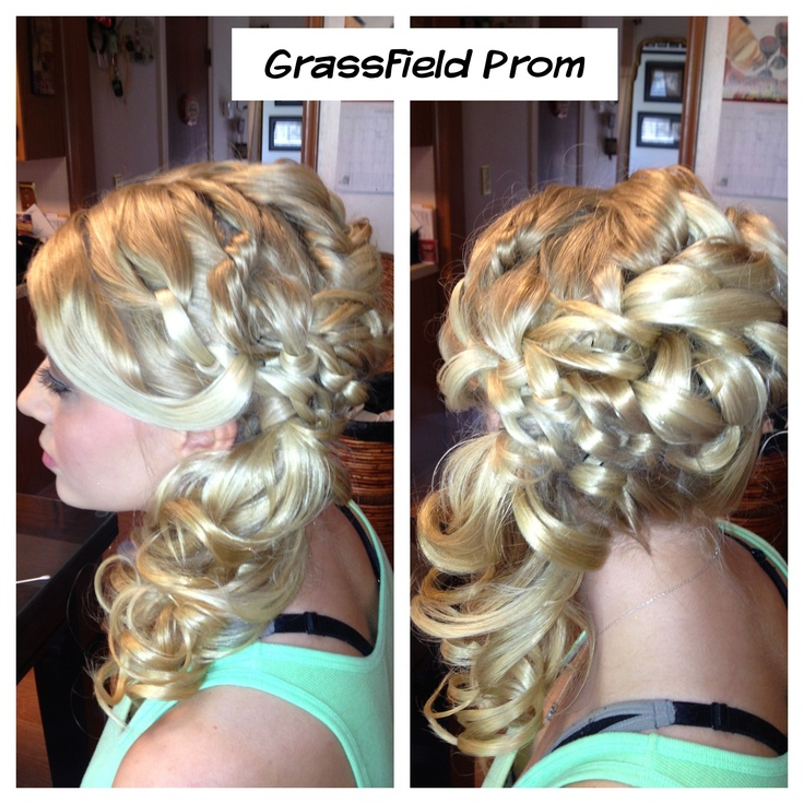 Prom hair! #prom #hair #highvoltagehairbycrystalcasey #updo #formal #weddinghair