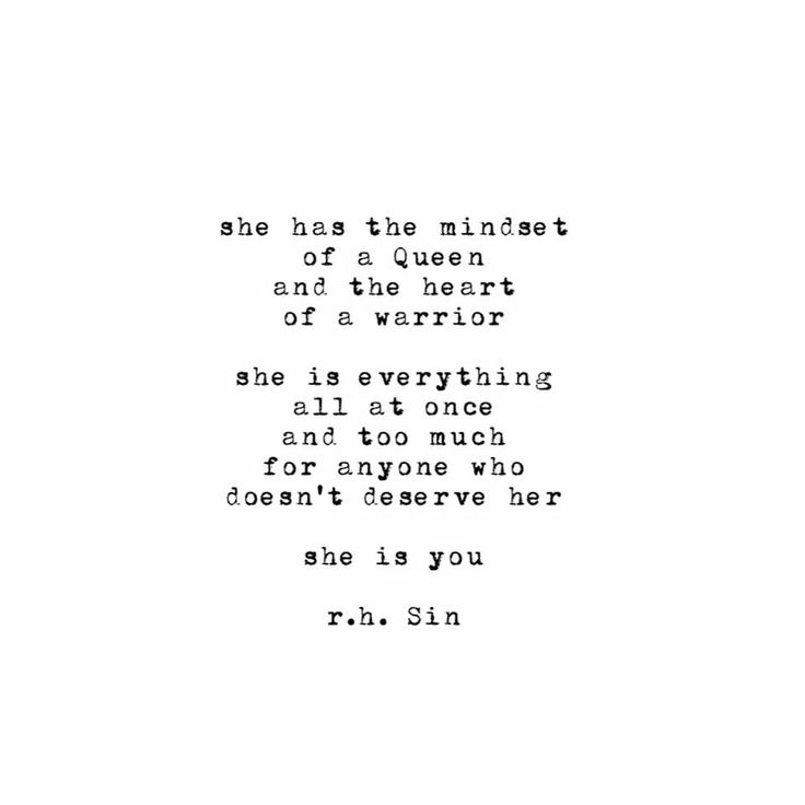 She is you.