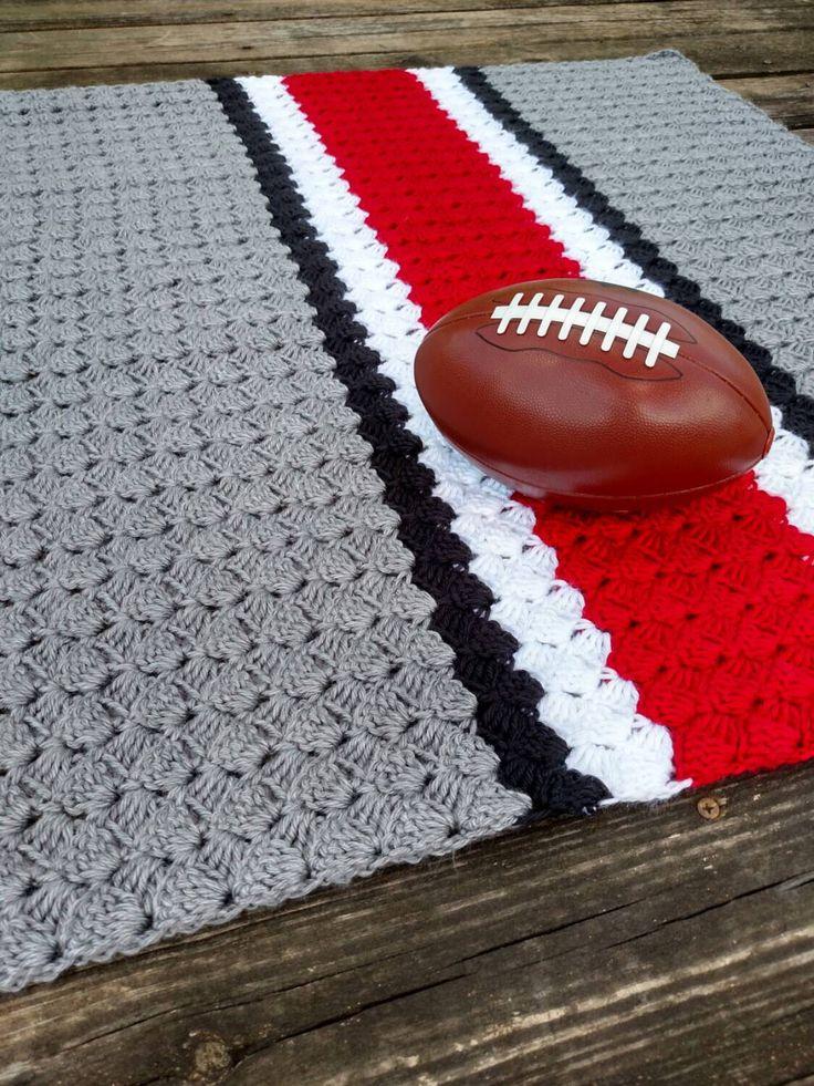 Ohio State Crochet Blanket - Ohio State Afghan - Ohio State Crochet Baby - Ohio State Knit Blanket - Ohio State Football Helmet Blanket by scarletngreycrochet on Etsy https://www.etsy.com/listing/244065656/ohio-state-crochet-blanket-ohio-state