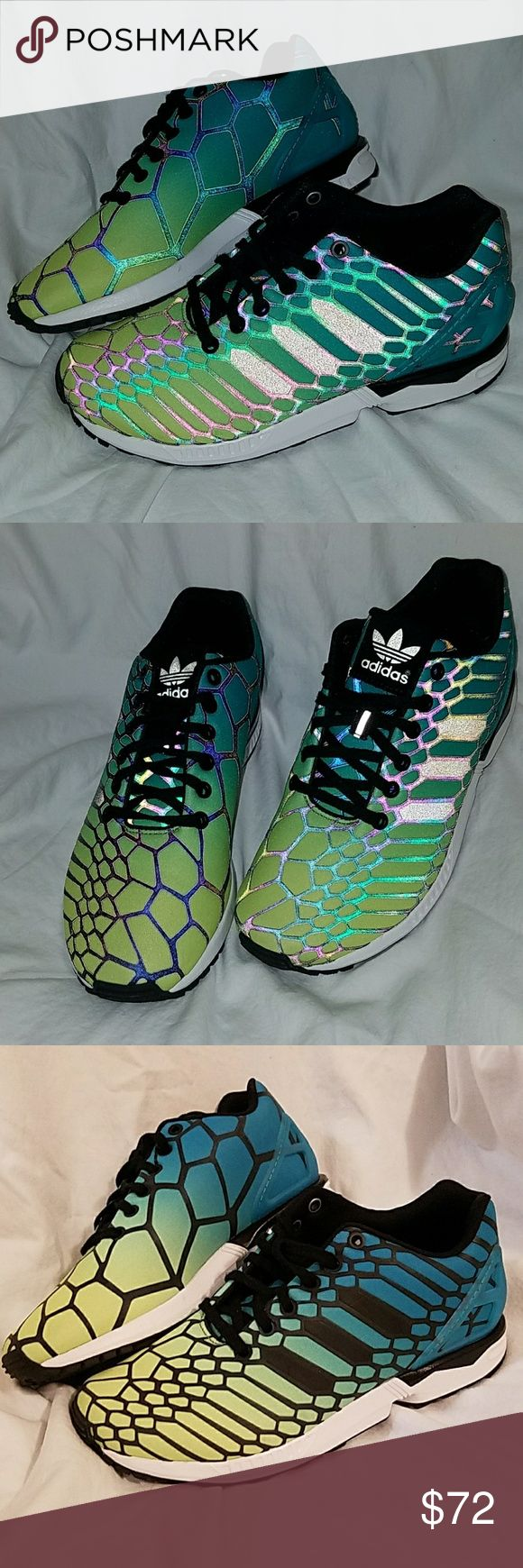 Torsion New without box sneakers that light up like crazy under headlights and flash. Also fits women size 8. adidas Shoes Sneakers