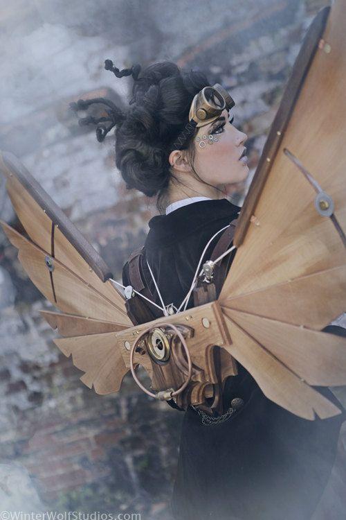 Steampunk Icarus Wings, courtesy WinterWolfStudios.com
