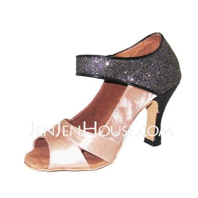 Dance Shoes - $28.99 - Satin Heels Sandals Latin Ballroom Dance Shoes (053012949) http://jenjenhouse.com/Satin-Heels-Sandals-Latin-Ballroom-Dance-Shoes-053012949-g12949