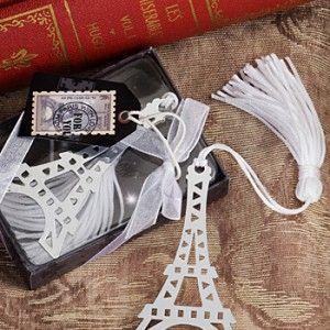 Torre Eiffel, Separador de Libros con Borla Blanca - Recuerdos originales y más para todo tipo de eventos sociales y empresariales.