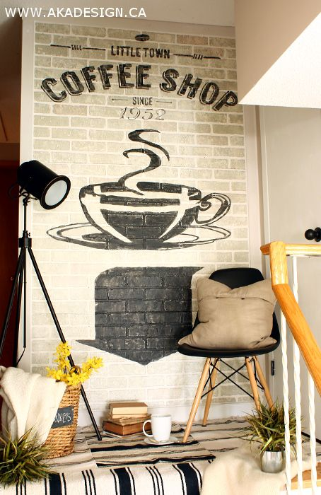 How to Create Old Brick Wall Advertising in Your House! - http://akadesign.ca/how-to-create-old-brick-wall-advertising/ #inspiremediy