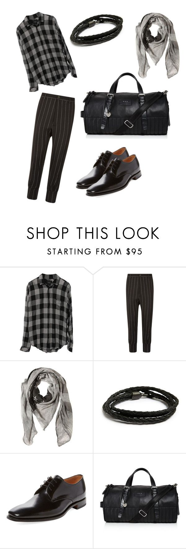 """Men's Semi-Formal Look ( Prints and Patterns)"" by harshal-singhai on Polyvore featuring Vivienne Westwood, John Varvatos, MIANSAI, Loake and John Varvatos * U.S.A."