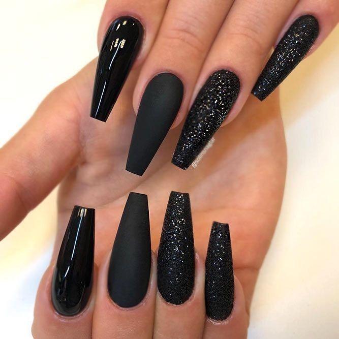 Pinterest X0 Jesss Long Black Nails Black Acrylic Nails Gorgeous Nails