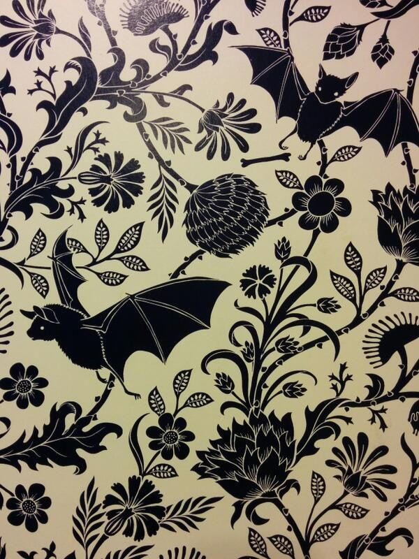 Fantastic wallpaper which would help to create a gothic inspired space but with a modern twist to it
