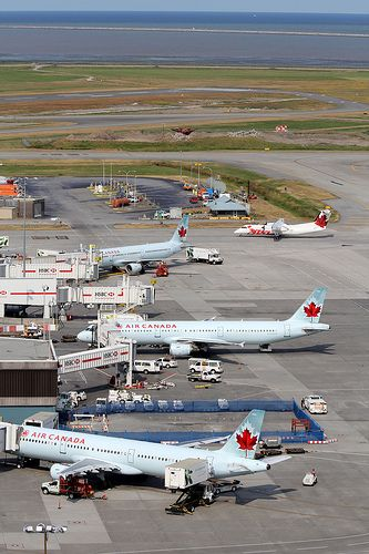 Air Canada planes at YVR. Vancouver International Airport