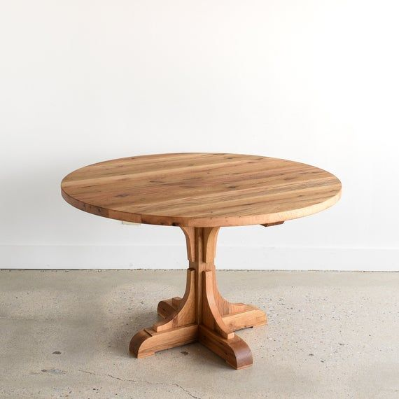 Round Farmhouse Table / Pedestal Table / Reclaimed Wood ...