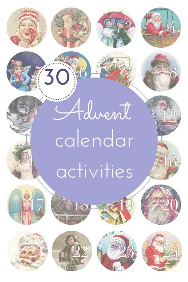 30 fun advent calendar activities christmas at home pinterest