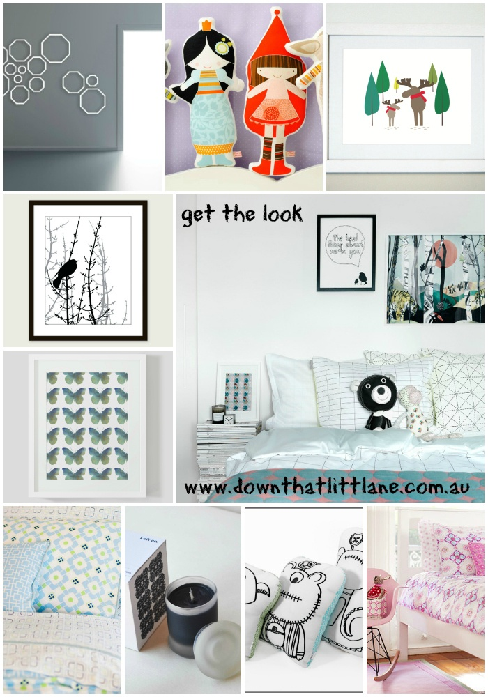 The geo kids room all from www.downthatlittlelane.com.au