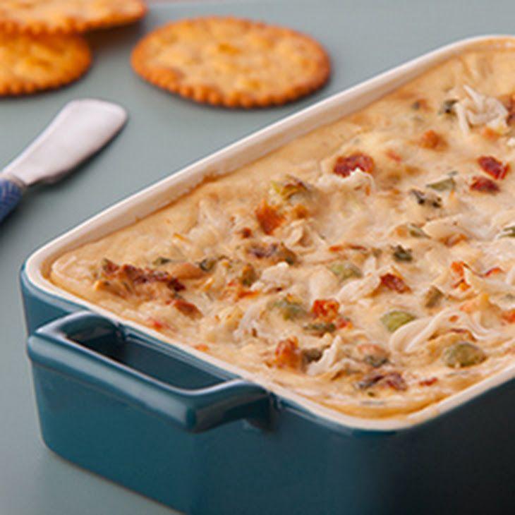 Warm Vegetable & Crab Dip Recipe Appetizers with lipton recip secret veget soup mix, sour cream, crabmeat, cream cheese, lemon juice