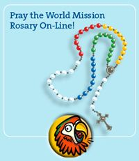 The World Mission Rosary online for kids at www.mcakids.org