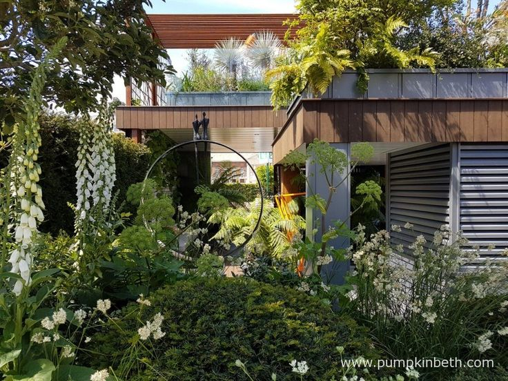 Kate Gould's City Living Garden, one of the Fresh Gardens at the RHS Chelsea Flower Show 2017.