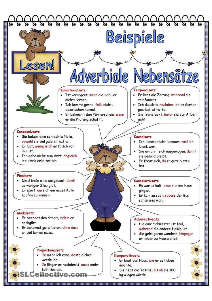 adverbiale Nebensätze