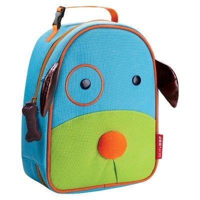Skip Hop Zoo Little Kids & Toddler Insulated Lunch Bag, Dog, Blue/Green