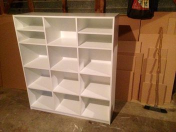 LARGE 12 Cube Storage Unit - Painted white..