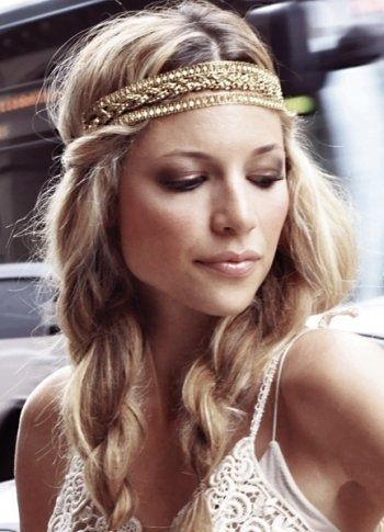 Headbands \u2013 coiffure de mariée hippy chic