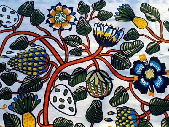 Modern tablecloth made from Marimekko fabric Tiara