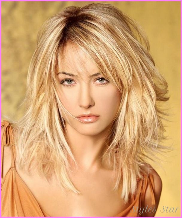 Hairstyles For Medium Length Hair Bangs : Best 25 medium layered haircuts ideas on pinterest
