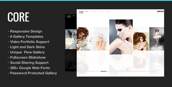 Core Minimalist Photography Portfolio - #Wordpress #Responsive Template - #html5 #css3 #jquery slider ready