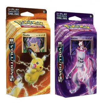 Pokemon Theme Deck : Set of Two - XY Evolutions (Mewtwo and Pikachu)