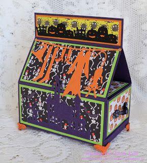 Karins-kortemakeri: Halloween hus