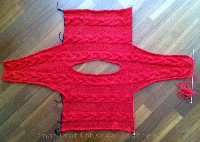 inspiration and realisation: DIY fashion blog: DIY horizontal cables: a one piece sweater