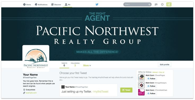 Pacific Northwest Realty Group Twitter Design - by TweetPages.com #TweetPages