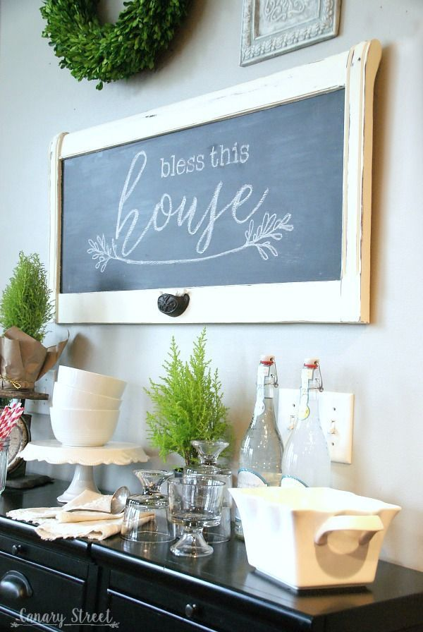 Good How To DIY A Chalkboard From An Old Headboard Nice Design