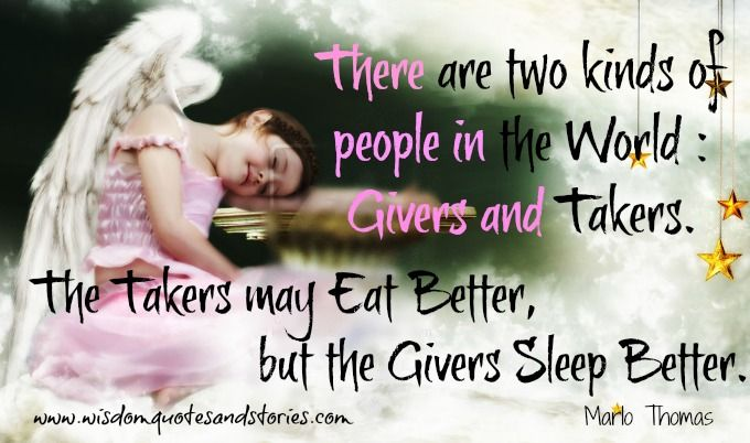 Givers and Takers | Wisdom Quotes & Stories
