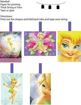 Tinker Bell Wall Decor 2, Tinker Bell & Peter Pan, Party Decorations - Free Printable Ideas from Family Shoppingbag.com
