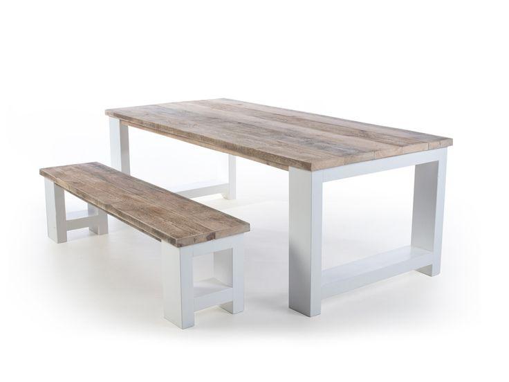 25+ beste idee u00ebn over Planken tafel op Pinterest   Buiten tafels, Rustieke keukentafels en