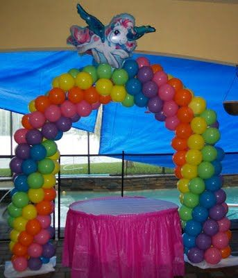 Party People Celebration Company - Special Event Decor Custom Balloon decor and Fabric Designs: My Little Pony Birthday