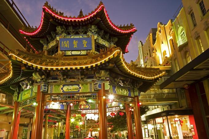 Pagoda in Brisbane's Chinatown, Queensland