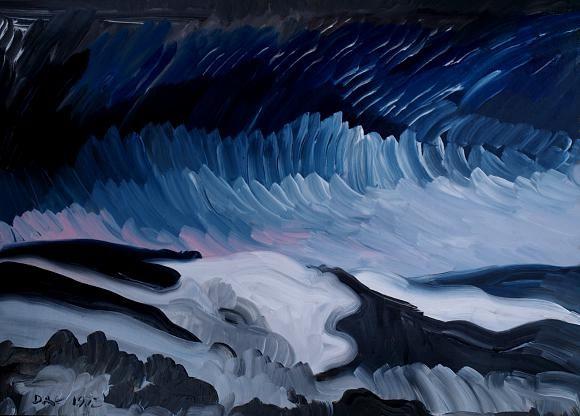 Winter landscape, автор Кандинский-ДАЕ. Артклуб Gallerix