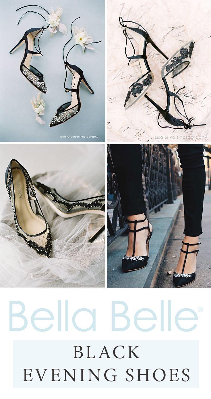 Bella Belle black evening shoes, fancy