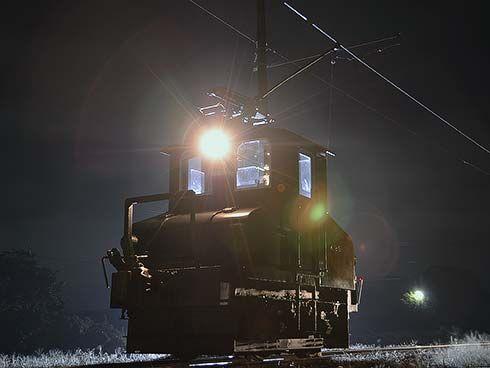 銚子電鉄でデキ3の深夜撮影会