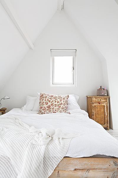 slaapkamer naturel puntdak