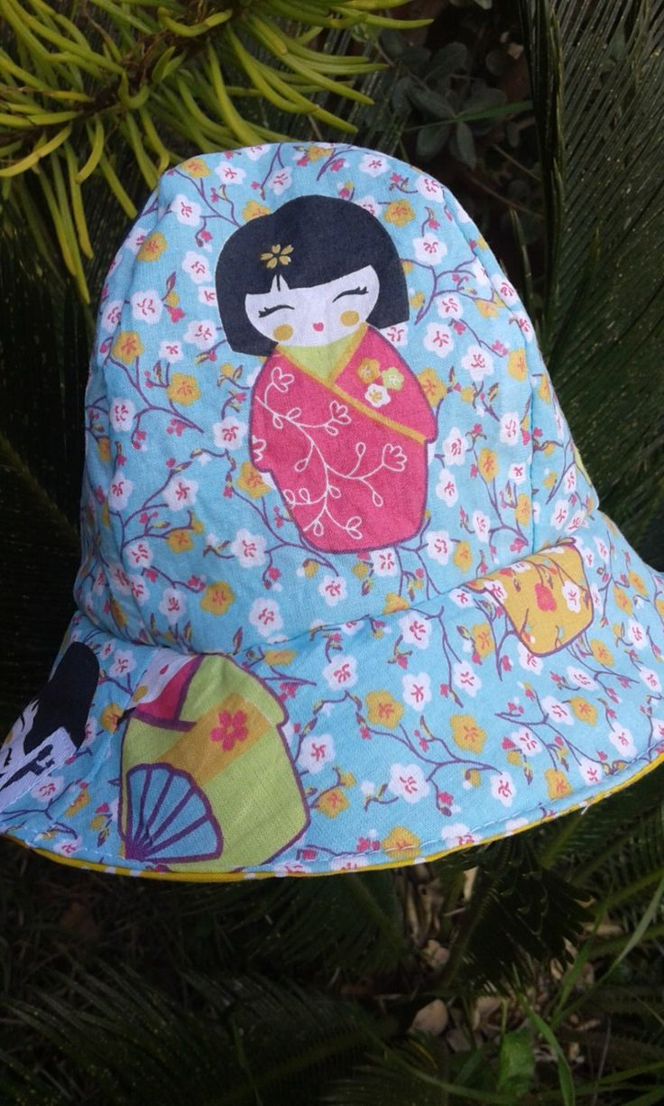 Hat, sun hat, baby girl, handmade, EGST, European street team, ready to ship, baby shower gift by Pitsiriki on Etsy