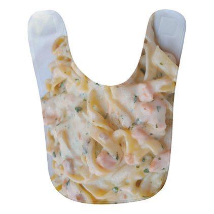 pasta custom food photo baby bib create your own gifts personalize