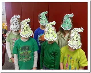 Have the kids make Grinch masks for an outdoor movie party - Southern ...