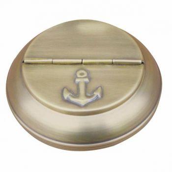 Maritimer Tisch-Klappaschenbecher mit edlen Messing-Antik Design,als Aschenbecher für unterwegs,auf dem Schiff oder aber als schöner Geschenkartikel.