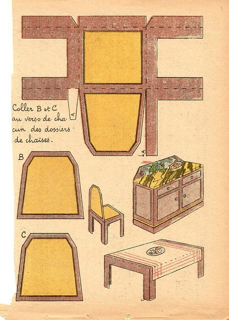 how to make paper furniture for a dollhouse