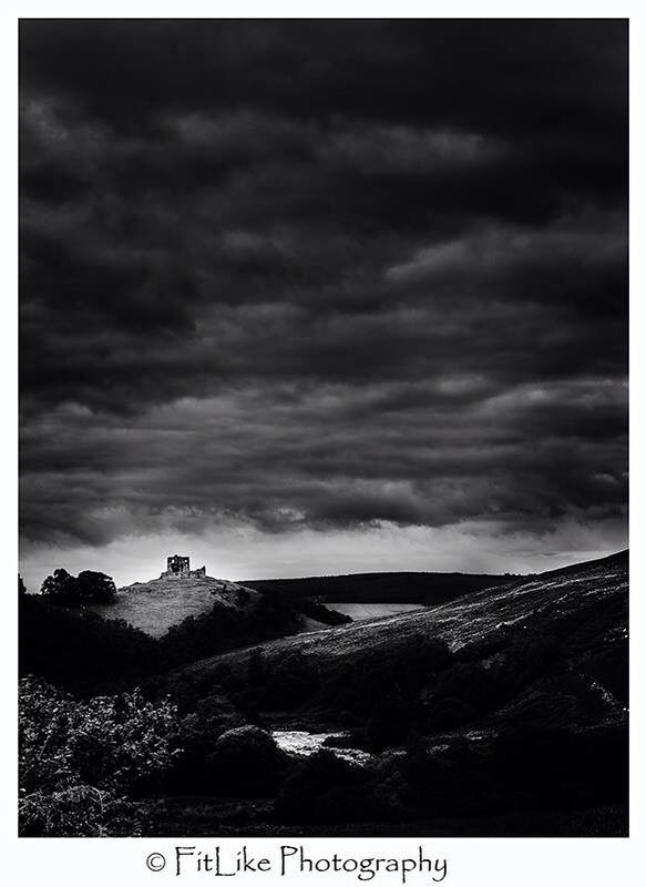 Auchindoun Castle. #moray #scotland #2015 #landscapes #castles #b&w