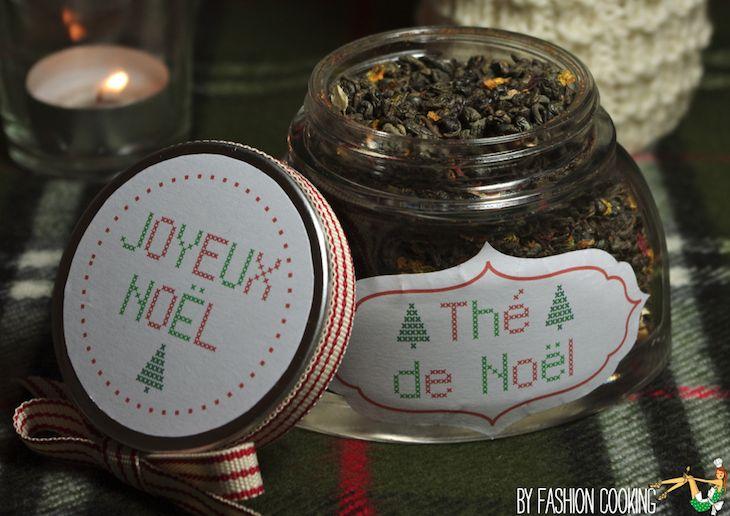 the vert noel1 Calendrier de lAvent des cadeaux gourmands 1er déc   Thé de Noël maison [kit printable étiquettes Noël inside]