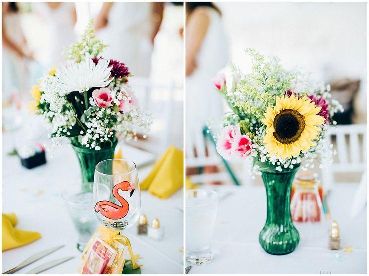 Spring Bridal Shower www.chelseaerwin.com #nationalcroquetcenter #bridalshower #croquet #sunflower #florals #flamingos